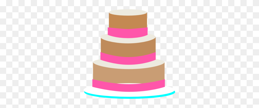 Wedding Cake Clip Art - Pink Cake Clipart