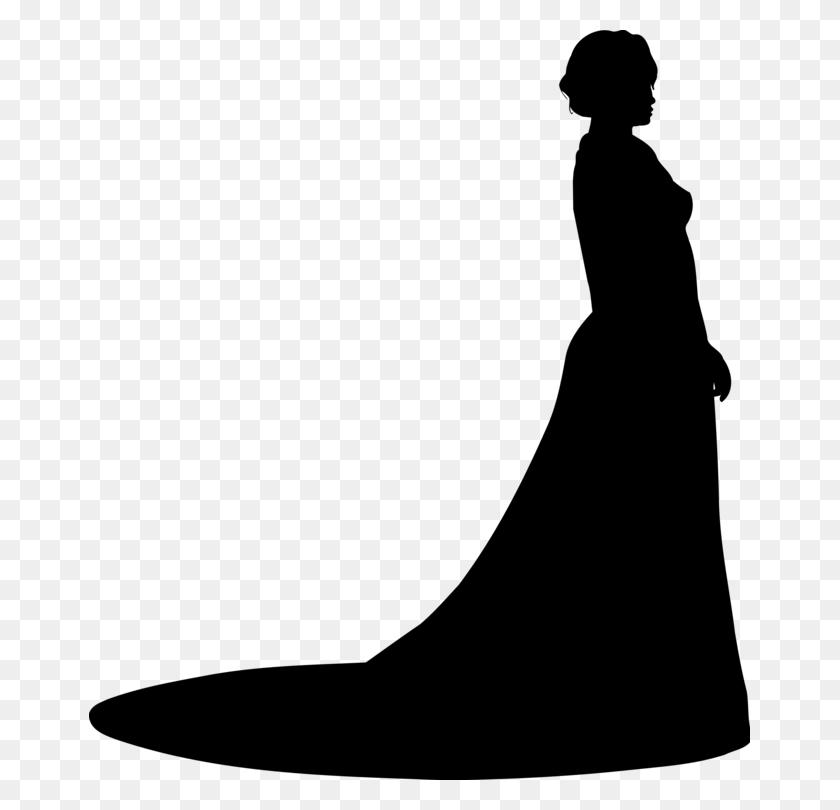 Wedding Dress Evening Gown Ball Gown Silhouette - Wedding Dress Clipart