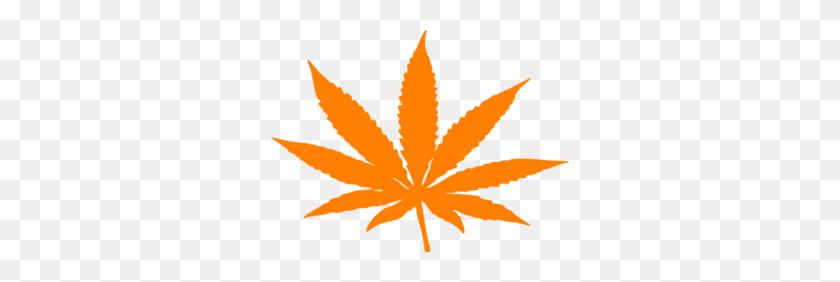 Weed Orange Clip Art - Weed Leaf Clipart