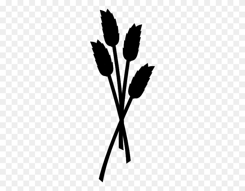 Grain Clipart Wheat Head - Wheat Clip Art Black And White - Png Download  (#3747582) - PinClipart