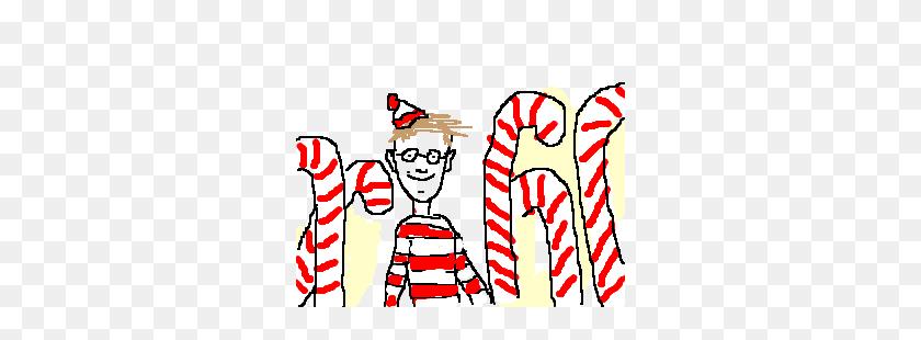 Where's Waldo' In A Candy Cane Field - Wheres Waldo Clipart