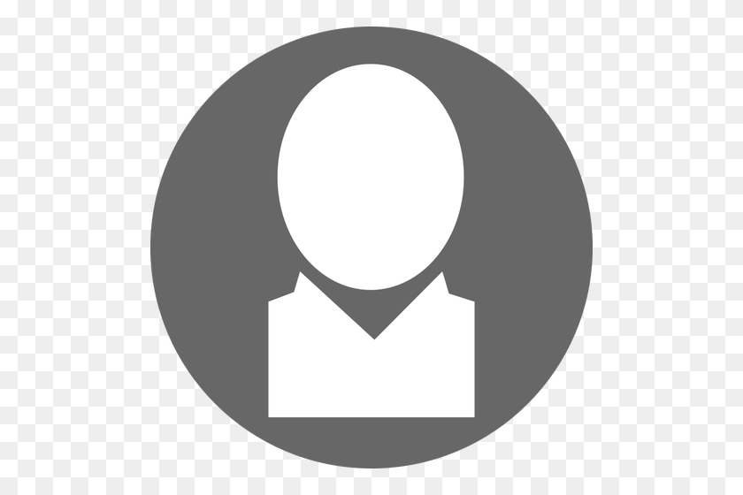 White And Gray User Icon - Gray Circle PNG