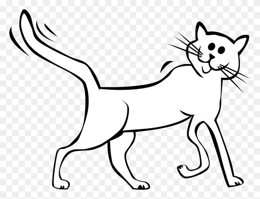 White Clip Art Cat Clipart - Running Cat Clipart