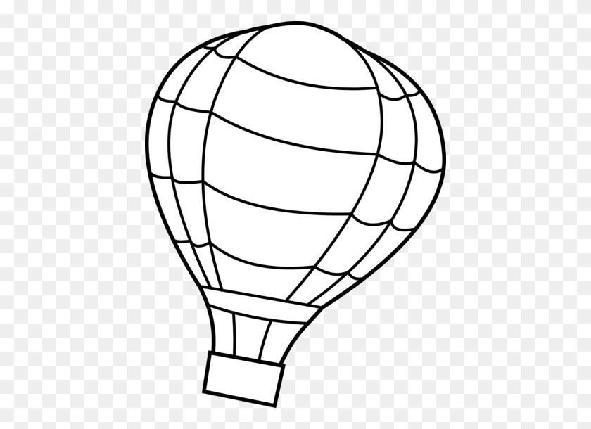 428x550 White Clipart Hot Air Balloon - Mason Jar Clipart Black And White