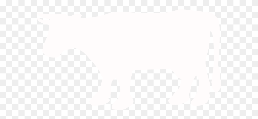 White Cow Silhouette Clip Art - Cow Silhouette Clip Art