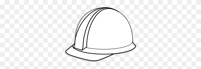 White Hard Hat Clip Art - Safety Clipart Black And White