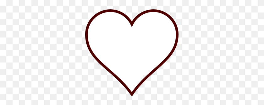 White Heart Clip Art - Love Heart Clipart