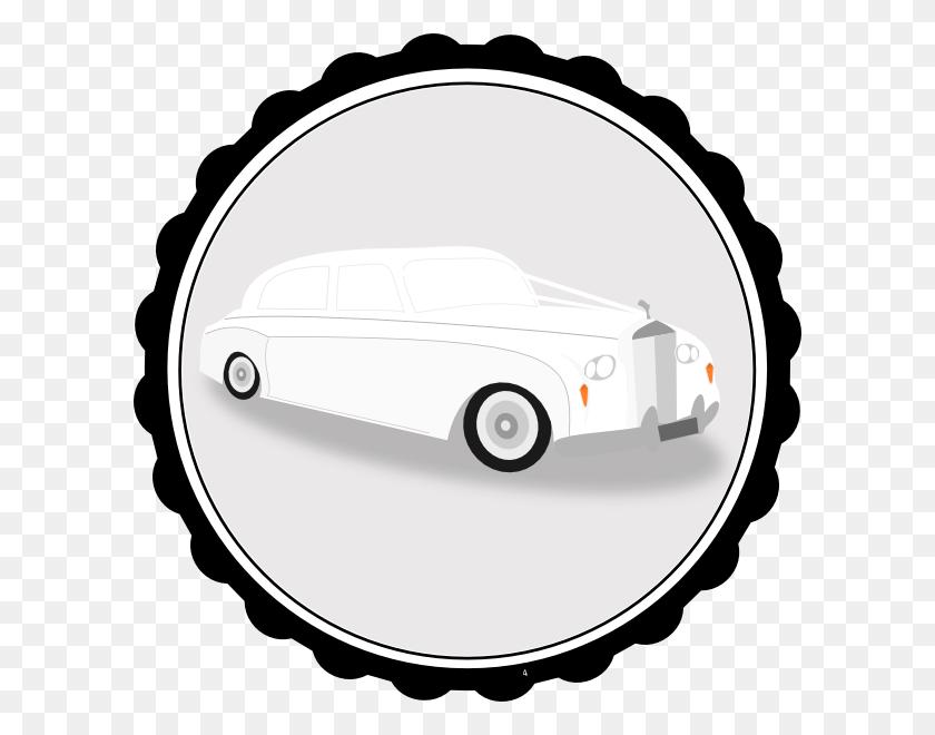 600x600 White Limo Driver Clip Art - Luxury Clipart