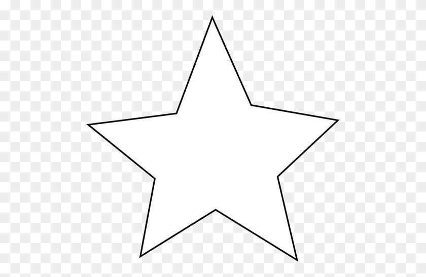 White Star Clip Art White Star - Star Clipart Black And White