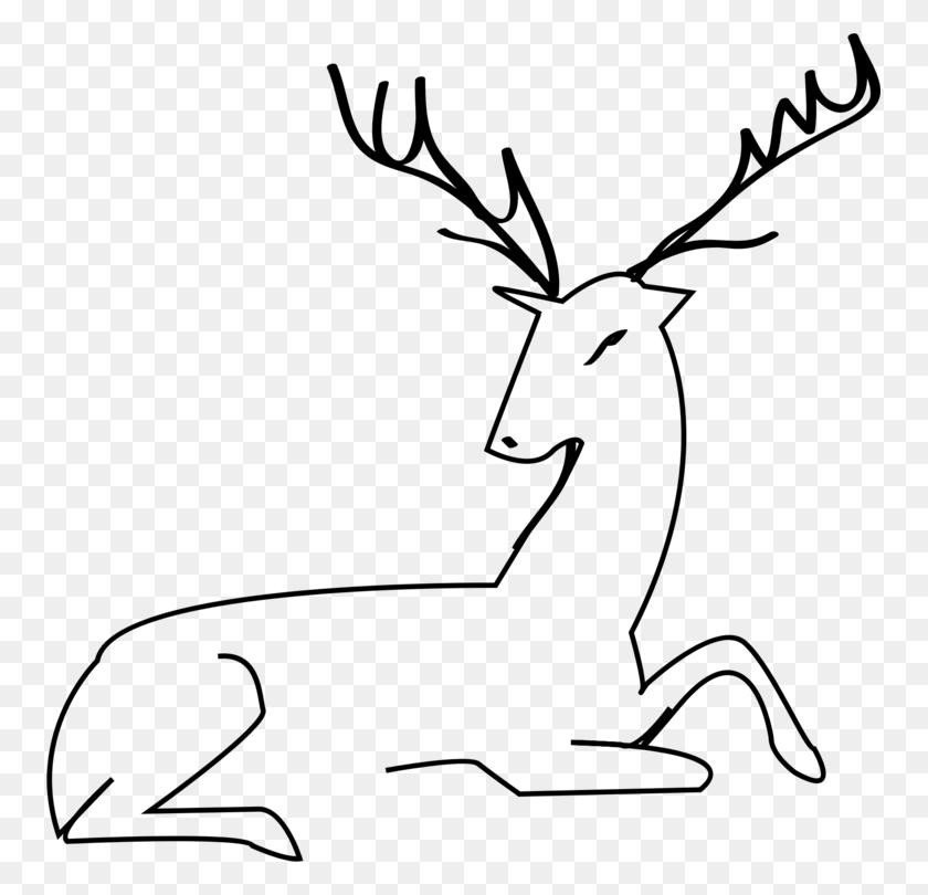 White Tailed Deer Moose Reindeer Elk - Reindeer Antlers Clipart