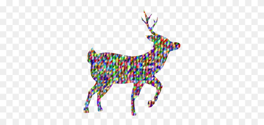 White Tailed Deer Moose Rudolph Reindeer - Whitetail Deer Clipart