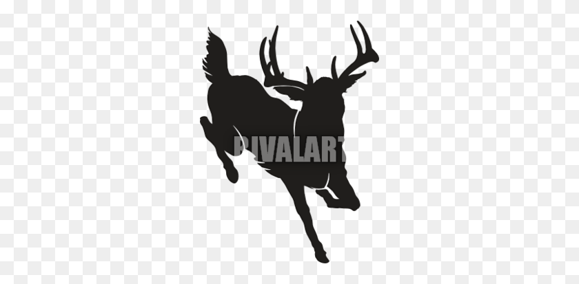 Whitetail Buck Shirts Clipart - Reindeer Silhouette Clipart