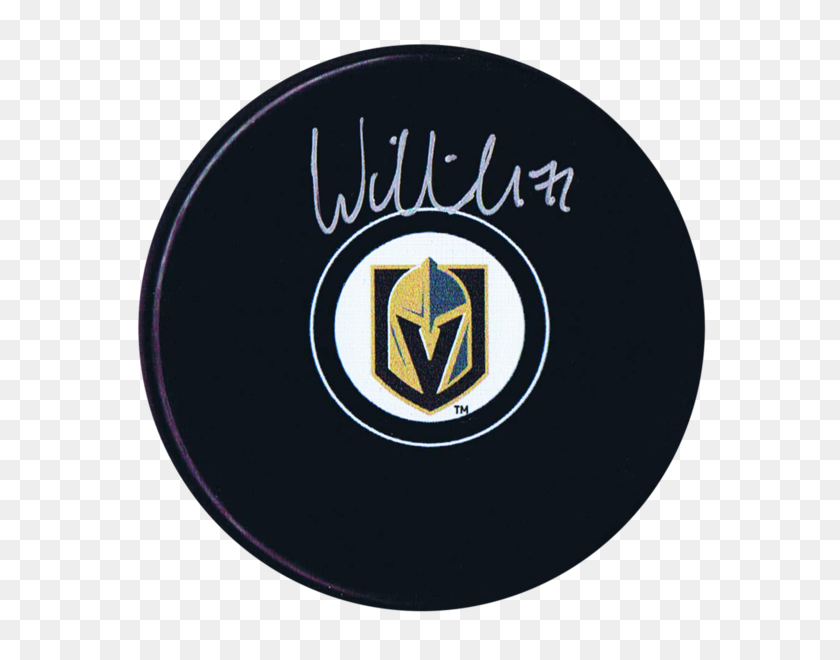 William Karlsson Autographed Vegas Golden Knights Puck - Vegas Golden Knights Logo PNG