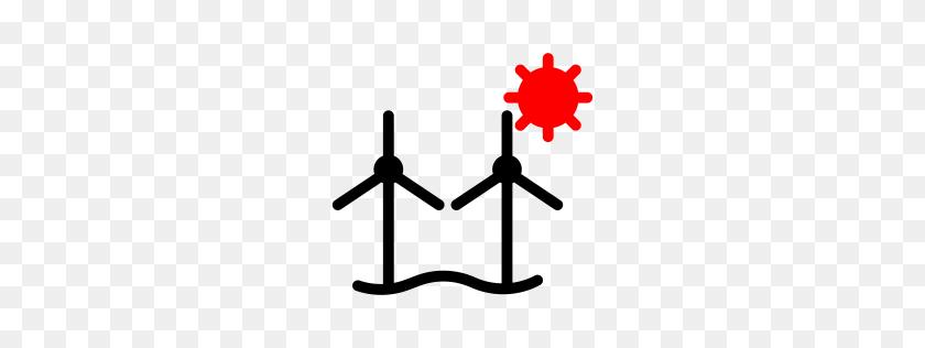 Windmill Icons - Wind Turbine Clipart