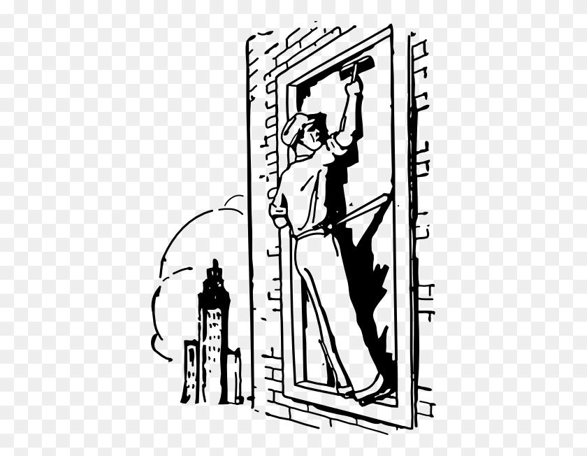 Window Washer Clip Art Free Vector - Clipart Window