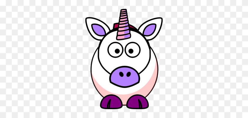 Winged Unicorn Pegasus Horse Mane - Cartoon Pig Clipart