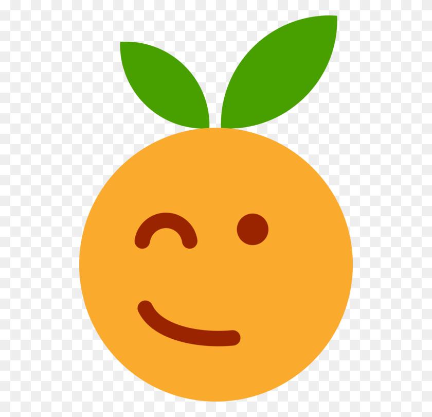 Wink Smiley Emoticon Fruit - Wink Clipart