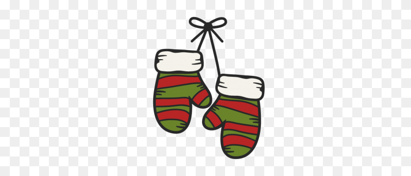 Winter Mittens Clip Art, Christmas Mittens Clipart - Winter Gloves Clipart