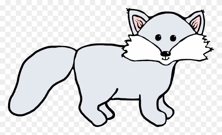 Winter On The Snow Fox Clipart, Explore Pictures - Winter Animals Clipart