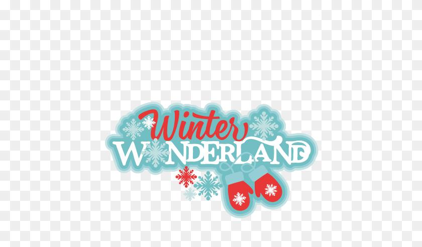 Winter Wonderland Title Miss Kate Cuttables Winter - Winter Wonderland Clip Art