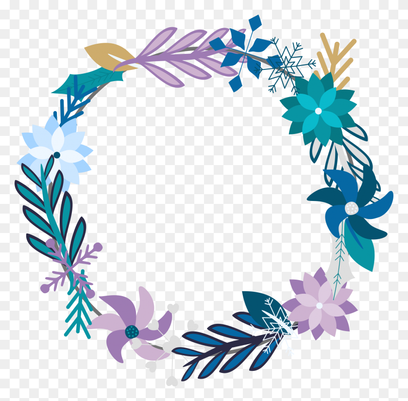 2309x2270 Winter Wreath Flowers Floral - Winter Flowers Clipart