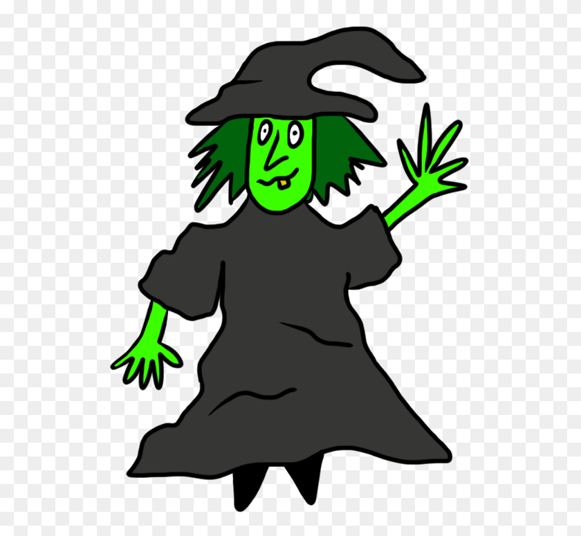 Witch Clipart Green Witch - Witch Clipart Black And White