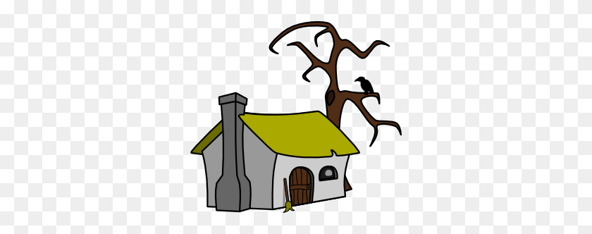 Witch Cottage Clip Art - Old House Clipart