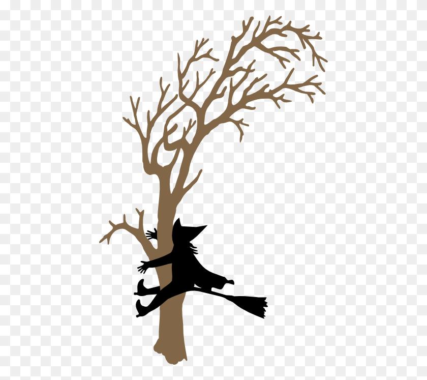 Witch Crash Silhouette Images - Plane Crash Clipart