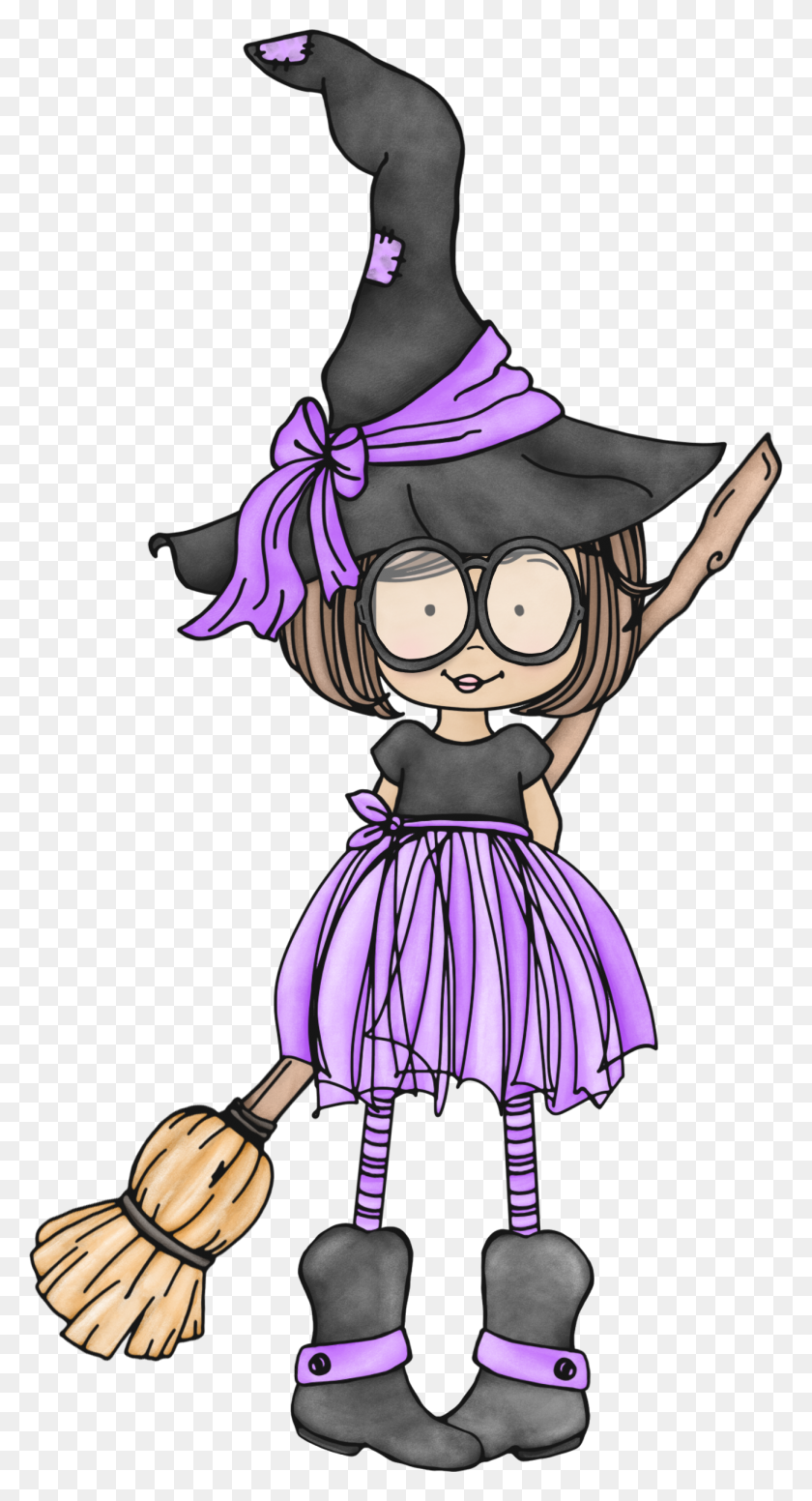 Witch Quenalbertini Cute Little Witch With Glasses Halloween - Wicked Witch Clipart