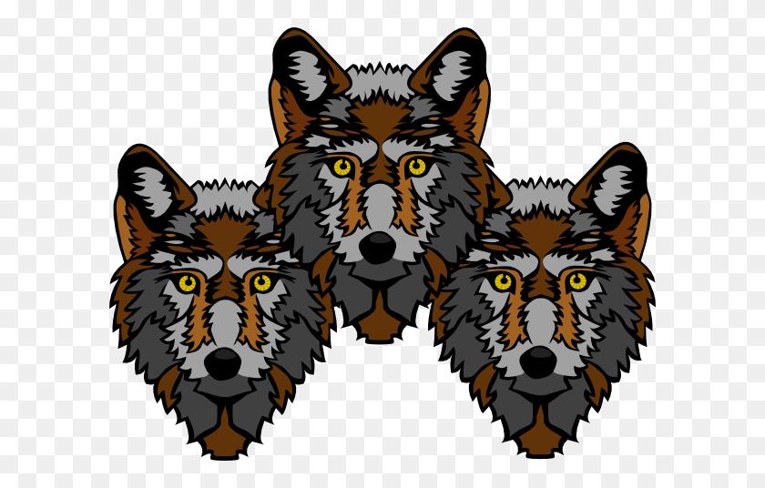 Wolf Heads Clip Art - Wolf Head PNG