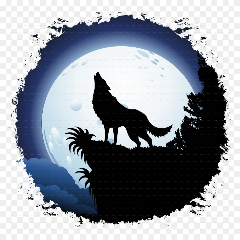 Wolf Howling Pic Sevimlimutfak - Wolf Howling At The Moon Clipart