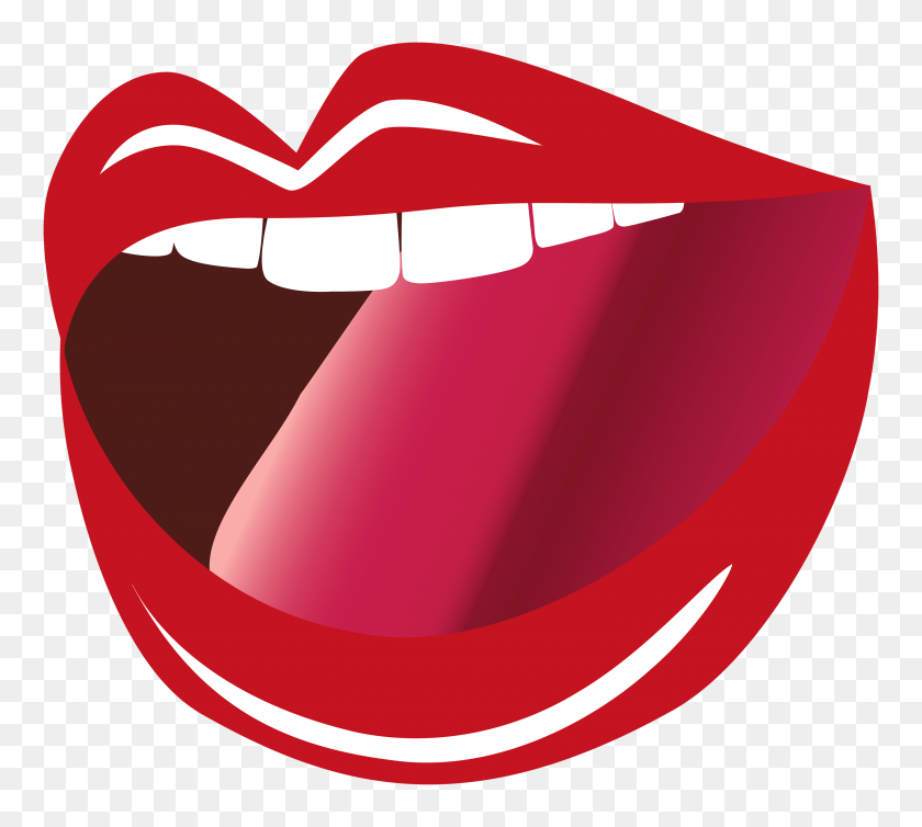Wolf Open Mouth Clip Art - Mouth Speaking Clipart