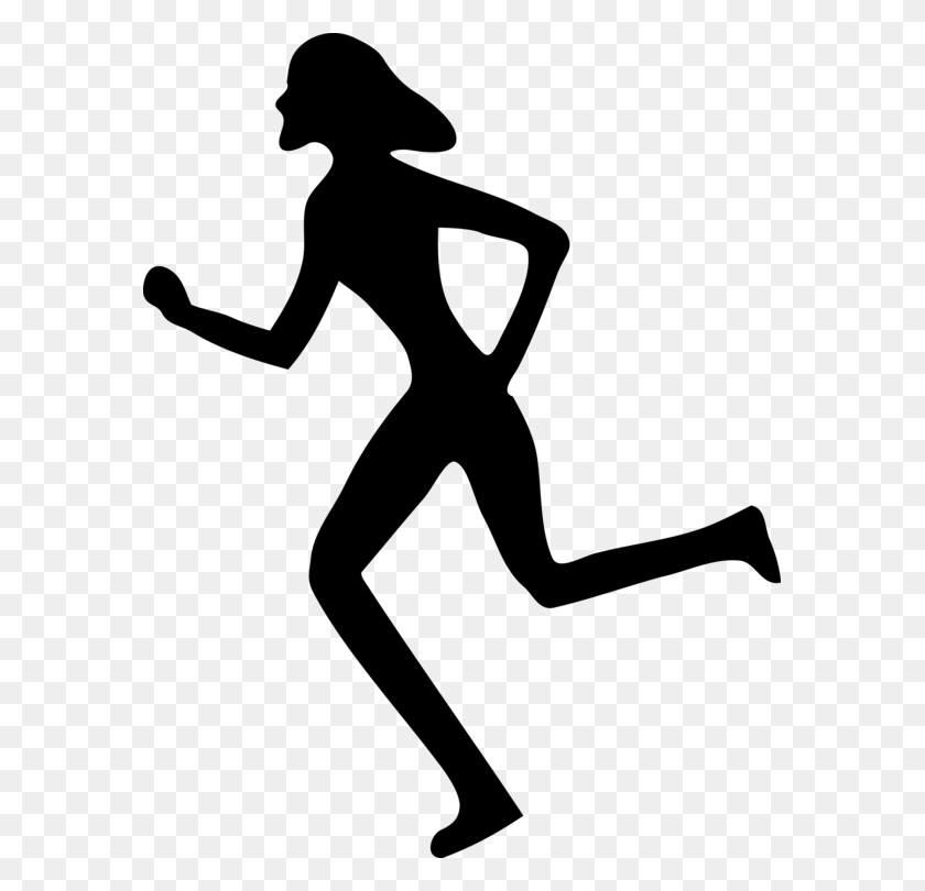 Woman Running Download Girl Drawing - Running Man Clipart