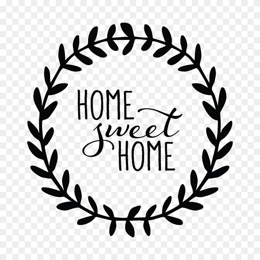 Women And Home Home Sweet Home Leaves Wall Decal - Quotes PNG