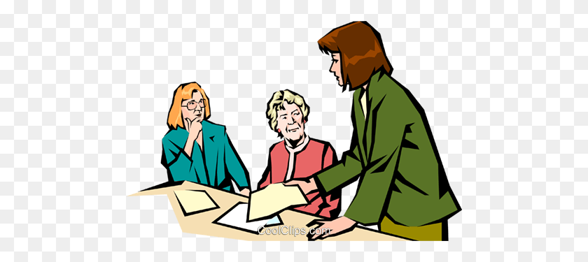 480x315 Women Meeting Royalty Free Vector Clip Art Illustration - Meeting Clipart Free