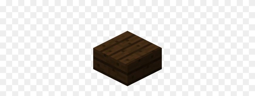 Wood Slab - Minecraft Blocks PNG