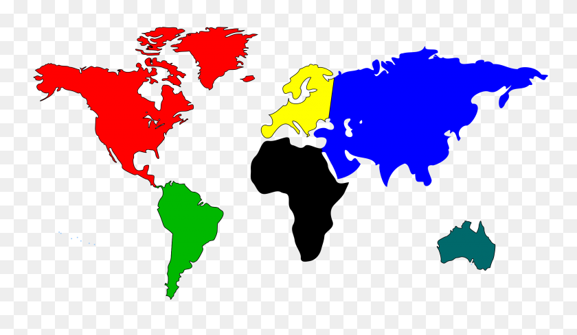 World Map Clipart Clip Art Oceans Color Labeled Abcteach Inside - A Lot Clipart