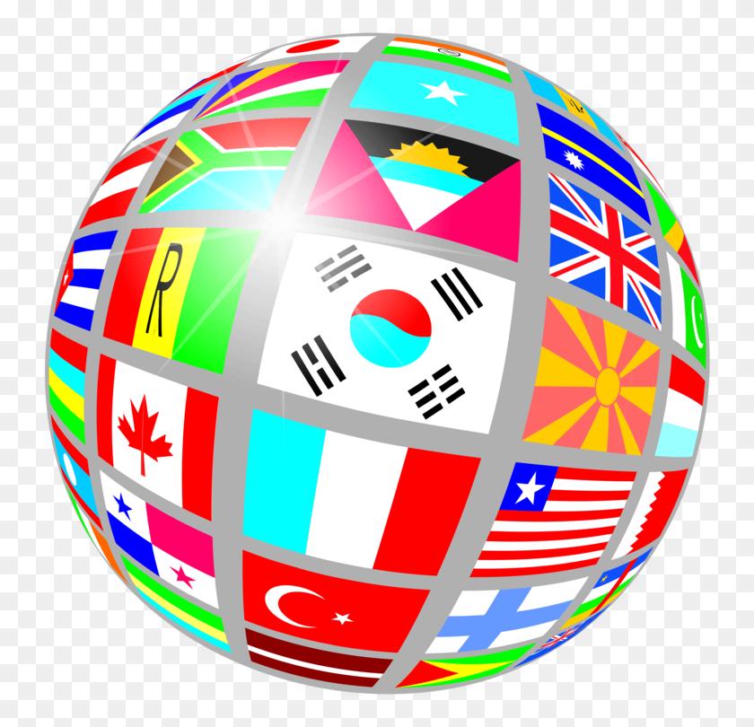 World Map Globe Flag - World Flags Clipart