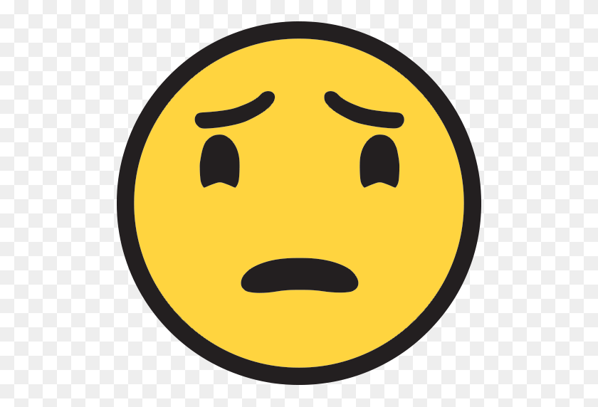 Worried Face Emoji For Facebook, Email Sms Id - Worried Emoji PNG