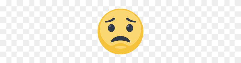 Worried Face Emoji On Facebook - Worried Emoji PNG