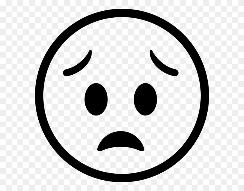 Worried Face Emoji Rubber Stamp Emoji Stamps Stamptopia - Worried Emoji PNG