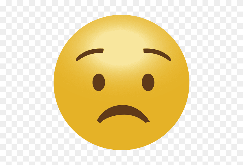 512x512 Worry Sad Emoji Emoticon - Sad Emoji PNG