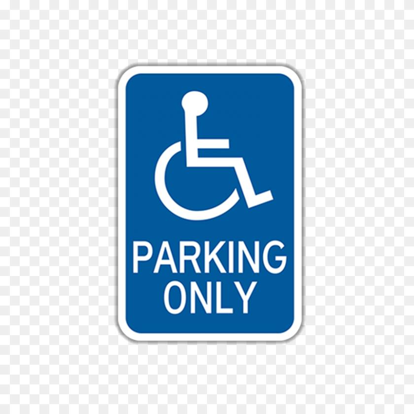 X Handicap Parking Traffic Sign - Handicap Sign PNG