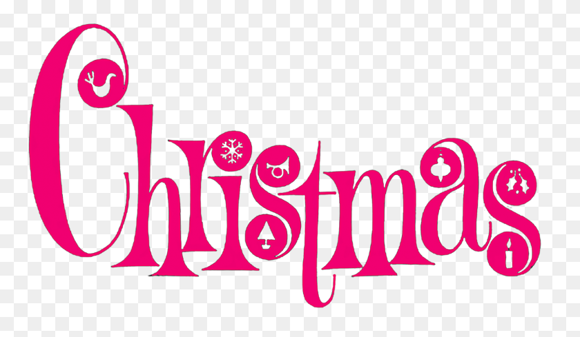 Xmas Clip Art Font Download - Merry Christmas Banner Clipart