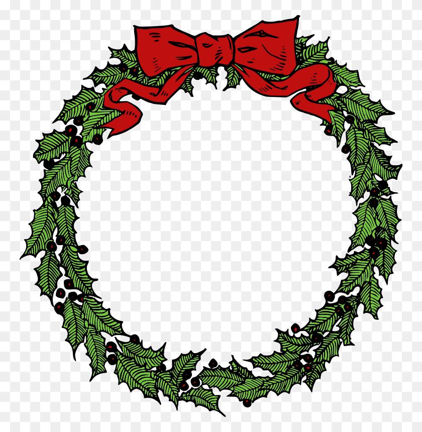 Xmas Wreath Clipart Free - Free Xmas Clipart
