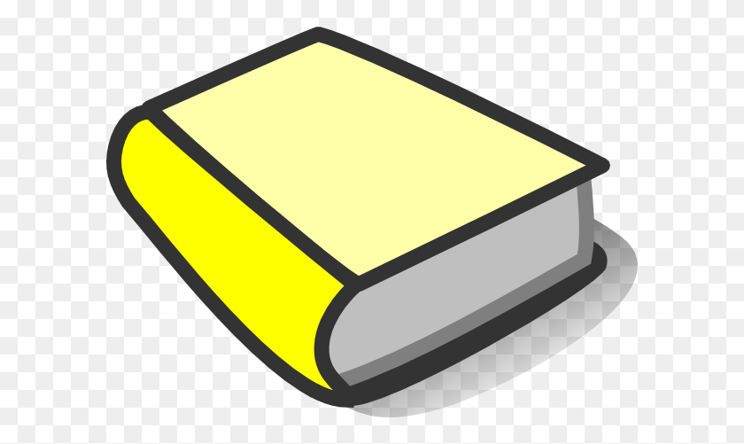 Yellow Book Reading Clip Art - Reading Book Clip Art
