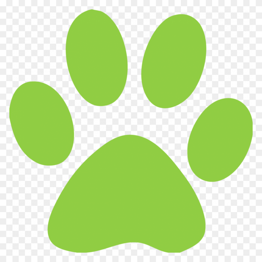 Yellow Bulldog Paw Print - Bulldog Paw Print Clip Art