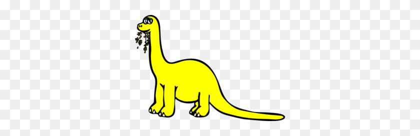 Yellow Cartoon Dinosaur Clip Art - Cartoon Dinosaur Clipart