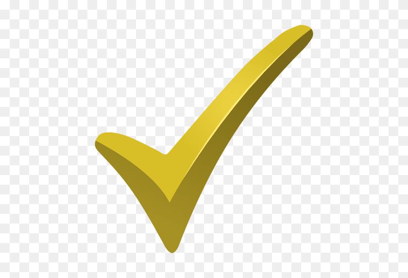 Yellow Check Mark - Yellow Line PNG