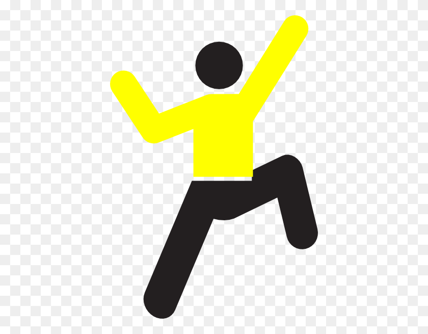 Yellow Climb Clip Art - Physical Fitness Clipart